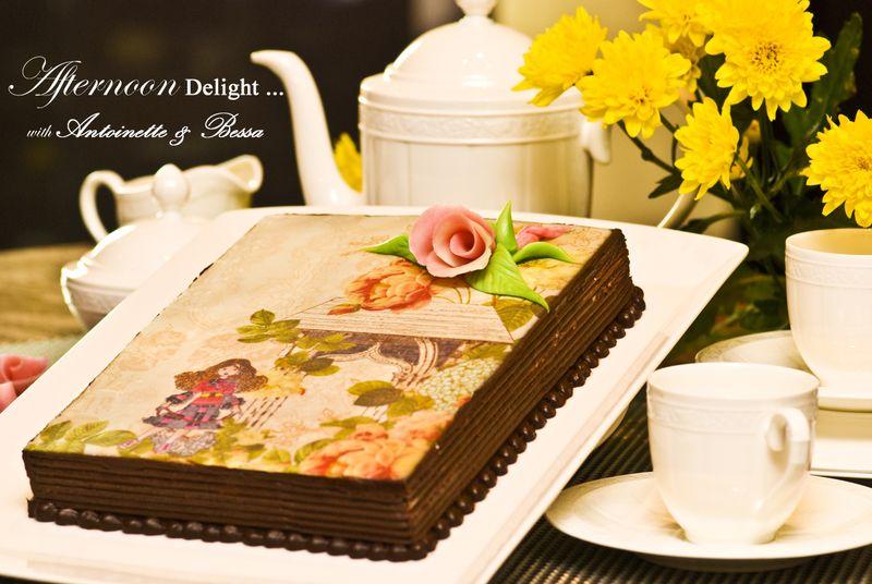 Opera Cake Decoration i Have a Delicious Opera Cake