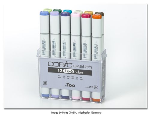 NEW 12 Copic Markers